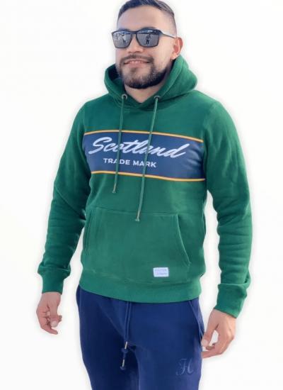 Buso Hombre Capota Cerrado Verde