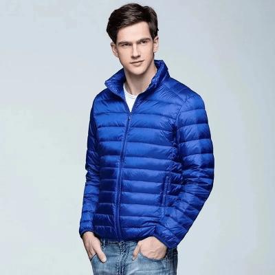 Chaqueta Hombre impermeable Ultra Liviana Azul